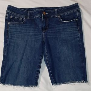 American Eagle Slim Boot Cut-Off Jean Shorts 14